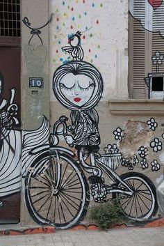 Athens street art #sassyboomergirls #streetart