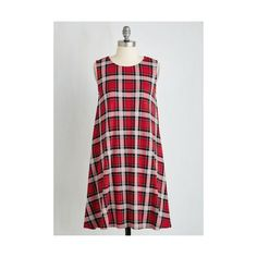 Short Length Sleeveless Shift Thesis How We Do Dress by ModCloth ($55) ❤ liked on Polyvore featuring dresses, apparel, fashion dress, red, pattern dress, print dress, red print dress, shift dress and star print dress