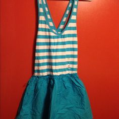New Hollister dress. New light blue with white stripes Hollister dress. Hollister Dresses