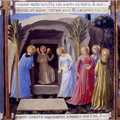 BEATO ANGELICO - Le Pie donne al sepolcro, scena da Armadio degli Argenti - 1451-1453 - tempera su tavola - Museo di San Marco, Firenze