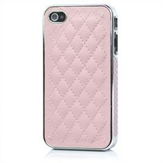 Class, distinction, and luxury emanate from this elegant faux leather electroplated MiniSuit back cover for the new iPhone 4/4S. Be instantly stylish and sleek while giving ultimate protection to your new mobile phone. This hard case cover is made f