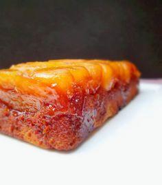 Cake aux pommes tatin: très bon et pas trop sucré malgré le caramel