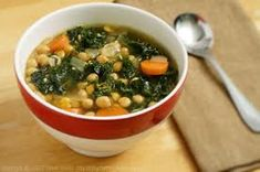 Kale Soup This is a fantastic, nutrient rich soup that can be enjoyed almost any time of year.  The batch described below is pretty large and can be stored for the week to enjoy as lunch or dinner.  It's difficult to find ways to consume the nutrient rich kale, and this soup makes it easy, and tasty!