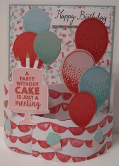 In My Craft Room: Balloon Celebration Bendy Card - Stampin' Up!