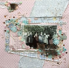 Stunning single page layout using FabScraps C103 Coffee Confessions collection.