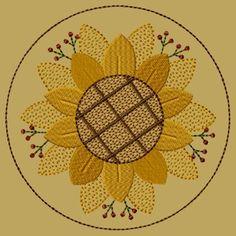 """PK112 """"Sunflower"""" Candlemat - Version 1"""