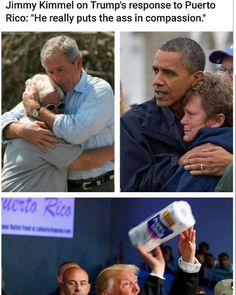Yeah, that's what people in a disaster need.....paper towels! What a World Class Moron!