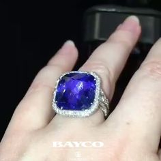 REPOST!!!  Out of the box and onto the hand of @ninahald1 , this #BaycoJewels sapphire and diamond ring is beautifully captured with all its details here! Video credit: @ninahald1 💙#bayco #style #themostpreciousstonesintheword #diamond #sapphire #baselworld2017 #baselworld #hautejoaillerie #finejewelry #thebest #newyork #luxury #highjewelry  Photo Credit: Instagram ID @baycojewels