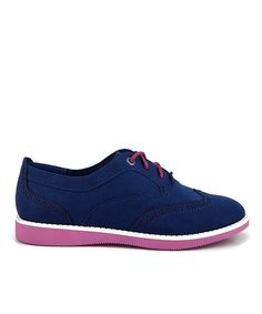 Take a look at the Navy & Pink Caisson Oxford - Women on #zulily today!