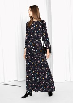 & Other Stories image 2 of Galaxy Maxi Dress in Galaxy Print