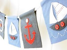 nautical bunting. LOVE. start sewing now.