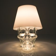 Got a great bottle, like this skull from Crystal Head vodka? Upcycle it into a lamp with Satechi's LED bottle conversion kit. Photo: Satechi...
