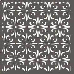 Flower Pattern Stencil - 12 x 12