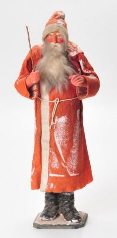 """Beautiful and rare, 27"""" high, extremely large German Santa Claus"""
