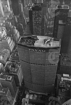 Pan Am building. Pan Am, New York Night, National Airlines, New York Architecture, The Lone Ranger, Aerial Drone, Aeroplanes, Black And White Pictures, Airports