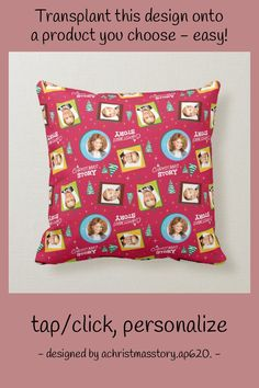 A Christmas Story | Family Photos Pattern Throw Pillow - tap/click to get yours right now! #ThrowPillow #a #christmas #story, #classic #movie, Accent Pillows, Throw Pillows, Photo Pattern, A Christmas Story, Family Photos, Living Spaces, Movie, Classic, Family Pictures