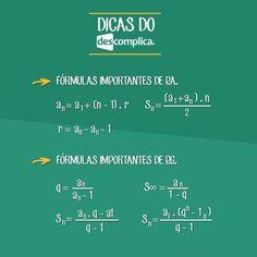Fórmulas de Progressão Aritmética (P.A.) e Progressão Geométrica (P.G.). Clique na imagem para assistir à aula em vídeo sobre o assunto.: