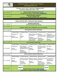 BlogPaws 2012 Preliminary Agenda