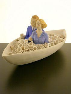 Love Boat by Megan Bogonovich; http://meganbogonovich.com/ceramics.html