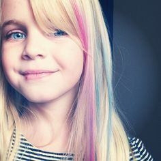 use artists chalk (pastels) to give some color to your children's hair!