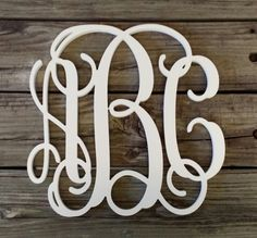These beautiful monograms are cut from 1/4 thick Baltic birch and painted in the color of your choice. No hanging hardware will be included. Weve had great results when hanging them from the wall using Command Adhesive Strips or attaching ribbon to create a hanger.  While our door hangers are finished in exterior-grade paint, we recommend that they be displayed out of direct weather. Hanging them under a porch or awning will ensure that they stay beautiful! A preview of the letters as they…