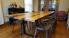 Modern Rustic Table by Single Batch Designs, handmade in Cincinnati!