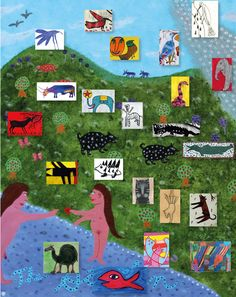 A paradise by US Artist King Orth and animals by other outsider artists presented on www.outsider-art-brut.ch or www.aussenseiterkunst.ch