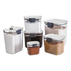 ProKeeper Storage Containers are contemporary, attractive food containers that help you stay organized and your kitchen stay clean. Sugar Container, Coffee Container, Container Store, Flour Storage, Bread Storage, Airtight Food Storage Containers, Food Containers, Ground Coffee Beans, Storage Sets