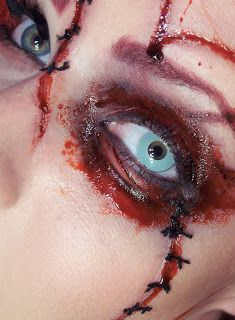 stitched up face makeup - Google Search