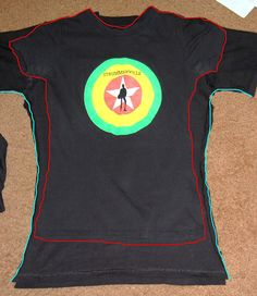 How to alter a men's t-shirt to a women's fit. Great for those otherwise unflattering concert t's and walk/run giveaways