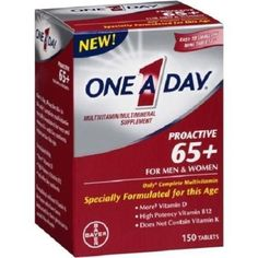 One A Day Proactive 65+ 150 Tablets Multivitamin Mineral Supplement #Bayer