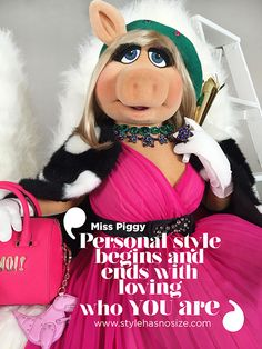 Kate Spade New York with Miss Piggy quote