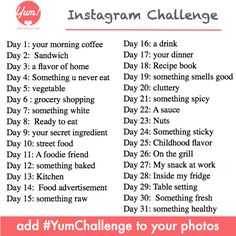 to take a 30 day picture challenge and actually finish it! - did the oct. 2012 instagram fmsphotoaday