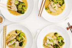 day two, dinner on the warming winter #goopdetox...a healthy version of a Chinese take-out favorite, pan-steamed chicken + broccoli
