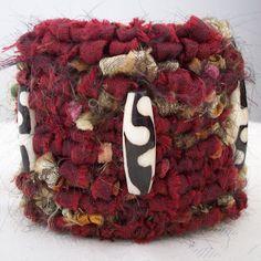 artful explorations: Locker-Hooked Silk Bracelet