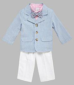 d464f42b92d2 Class Club 2T7 BroSis Seersucker Set #Dillards Suit Fashion, Boy Fashion, Toddler  Boys