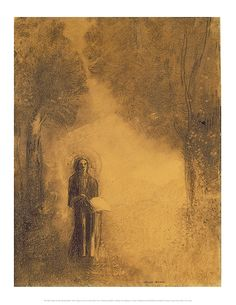 """This charcoal on paper drawing entitled """"The Walker (Study for The walking Buddha)"""" accompanied a May 2006 article entitled What the Buddha Thought. It was created by Odilon Redon (1840-1916) and is in the permanent collection of the Hamburg Kunsthalle in Germany."""