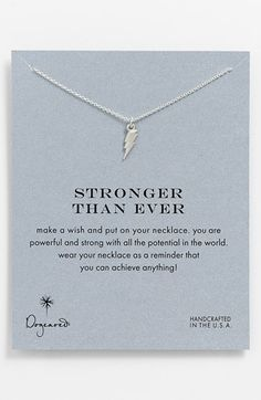 Dogeared 'Reminder - Stronger Than Ever' Boxed Pendant Necklace | Nordstrom