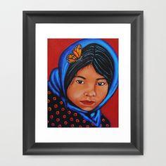 Mira Bien mis Ojos Framed Art Print by Guadalupe Reyes  - $30.00