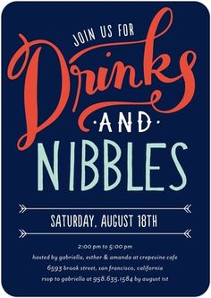Drinks and Nibbles : Baltic Corporate Event Invitations Designer: Petite Alma for Tiny Prints Event Invitation Design, Corporate Invitation, Business Invitation, Invitation Wording, Event Invitations, Invitation Templates, Invitation Ideas, Housewarming Invitations, Housewarming Party
