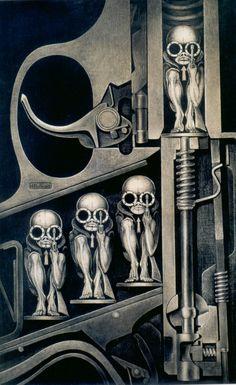 H.R. Giger - Birth Machine - biomechanical, future, futuristic, machinery, robotics, mechanics