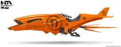Orange Speeder 2 by NuMioH