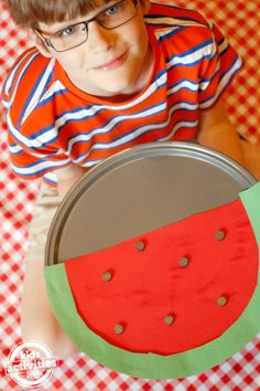 We love this fun watermelon counting game from the new book Smart School House Crafts for Kids.