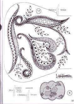 Lace Express 2009 special - Maria del Carmen - Picasa Albums Web Bobbin Lace Patterns, Bead Embroidery Patterns, Bead Loom Patterns, Needle Tatting, Tatting Lace, Needle Lace, Filet Crochet, Crochet Motif, Crochet Edgings