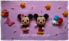 Mickey e Minnie em feltro!