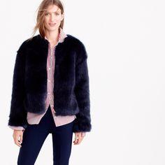 Collection faux-fur jacket : coats & jackets | J.Crew