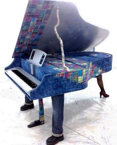 #Art, #Guitar, #Instrument, #Music, #Piano, #Recycled