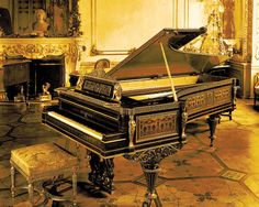 Grand piano designed by Anton Grosser for the exhibition in Paris 1867
