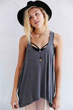 Project Social T Ruched-Side Tank Top - Urban Outfitters
