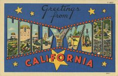 Greetings from Hollywood, California - Large Letter Postcard